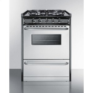 "Summit24"" Wide Slide-in Gas Range With Stainless Steel Doors and Sealed Burners; Replaces Tnm61027bfrwy"