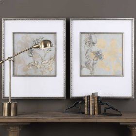 Shadow Florals Framed Prints, S/2