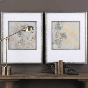 Shadow Florals Framed Prints, S/2
