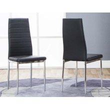Delphi-chrm/blk Side Chair