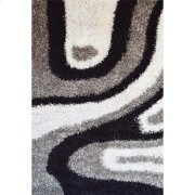 Shaggy Rug Grey - White - Black (pile Height 5cm, Pile Weight 3400g/sqm) Product Image