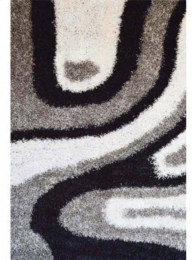 Shaggy Rug Grey - White - Black (pile Height 5cm, Pile Weight 3400g/sqm)