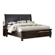 QUEEN BED W/ FOOTBOARD STORAGES