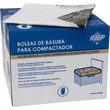 "60 Pack-Plastic Compactor Bags-15"" Models"