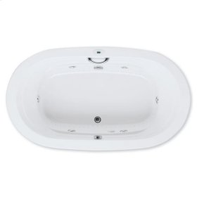 "Easy-Clean High Gloss Acrylic Surface, Oval, MicroSilk® - Whirlpool Bathtub, Standard Package, 42"" X 72"""