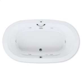 "Easy-Clean High Gloss Acrylic Surface, Oval, MicroSilk® - Whirlpool Bathtub, Standard Package, 42"" X 72"""