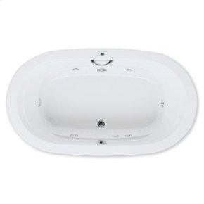 "Easy-Clean High Gloss Acrylic Surface, Oval, AirMasseur® - Whirlpool Bathtub, Signature Package, 42"" X 72"""