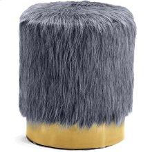 """Joy Faux Fur Ottoman  Stool - 14.5"""" W x 14.5"""" D x 17.5"""" H"""