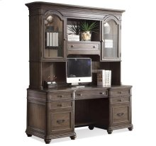 Belmeade Credenza Hutch Old World Oak finish