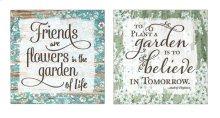 Inspirational Garden Themed Decor - Ast 2