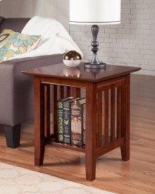 Mission End Table Walnut
