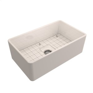 "Crisfield Single Bowl Fireclay Farmer Sink - 30"" - Bisque Product Image"