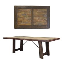 8' Las Piedras Table W/Painted Wood