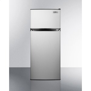 SummitADA Compliant Frost-free Refrigerator-freezer In Stainless Steel With Icemaker