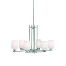 Eileen Collection Eileen 6 Light Chandelier - Brushed Nickel