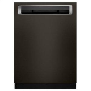 KITCHENAID46 DBA Dishwasher with Third Level Rack and PrintShield Finish, Pocket Handle - Black Stainless