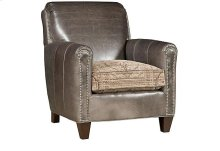 Austin Leather/Fabric Chair, Austin Leather Ottoman