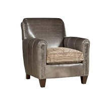 Austin Leather/Fabric Chair, Austin Leather Ottoman