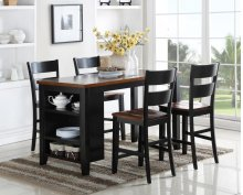 5 PC Island - Kitchen Island and 4 Pub Chairs