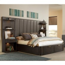 Precision - King/california King Tall Upholstered Headboard - Umber Finish