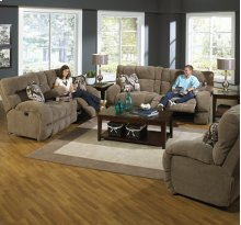 "Power ""Lay Flat"" Recl Sofa - Chocolate"