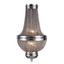 The Paloma Collection consists of the classic empire shape but with dark grey or pewter strands draping the frame. Comes in both a pendant and a flush mount.