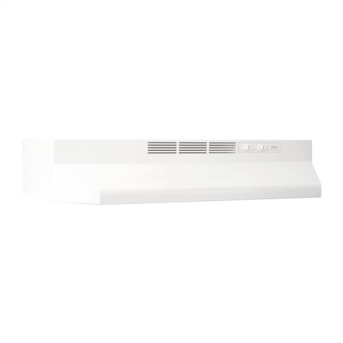 """30"""" Ductless Under-Cabinet Range Hood with Light in White"""
