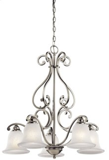 Camerena 5 Light Down Chandelier Brushed Nickel