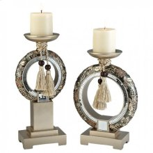 Farrah Candle Holder Set (2/box)