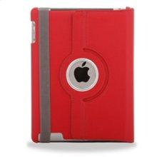 Polaroid Hard Shell iPad 2 and iPad 3 Rotating Folio Case, Red - PAC100RD