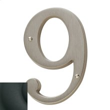 Satin Black House Number - 9