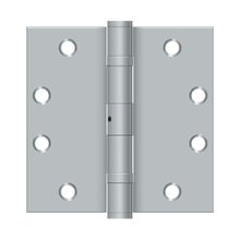 "4 1/2""x 4 1/2"" Square Hinge, HD, Ball Bearings - Brushed Chrome"