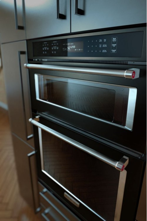 "30"" Combination Wall Oven with Even-Heat True Convection (Lower Oven) - Black Stainless"
