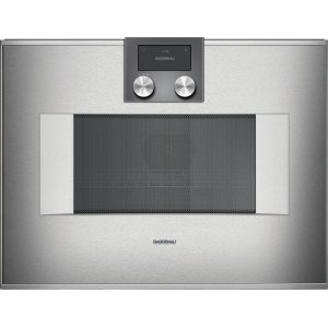 Gaggenau400 series 400 series speed microwave oven Stainless steel-backed full glass door Right-hinged Controls on top