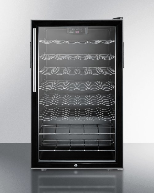 "20"" Wide Wine Cellar for Built-in Use, With Lock, Digital Thermostat and Thin Pro Handle"