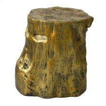 Log Stool Gold