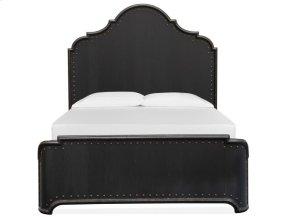Complete Queen Curved Panel Bed