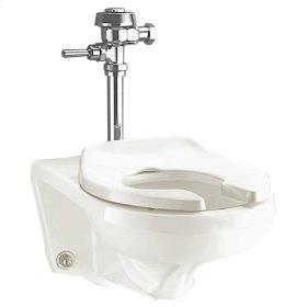 Afwall 1.28-1.6 gpf Universal Flushometer Toilet - White