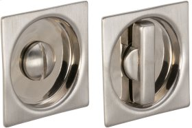 Sliding Pocket Door Mortise Lock in (US15 Satin Nickel Plated, Lacquered)