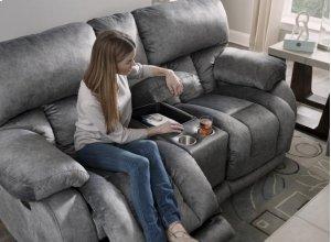 Power Headrest Power Lay Flat Recl Sofa w/DDT & Ext Ottoman