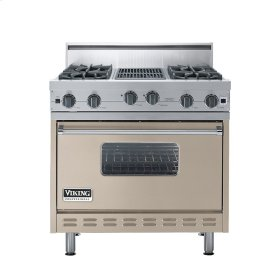 "Taupe 36"" Open Burner Range - VGIC (36"" wide, four burners 12"" wide char-grill)"