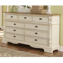Oleta Buttermilk Nine-drawer Dresser
