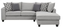 Emerald Home Adler Sectional Pewter U4132-29-30-03-k