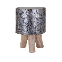 Elena Shell and Teak Wood Stool