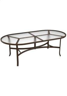 """Acrylic 84"""" x 42"""" Oval Dining Table"""