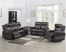 "Coachella Recliner Loveseat Pwr/Pwr Brown 56.5""x38.5""x41"""
