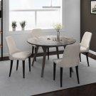 Mira/Zima 5pc Dining Set, Grey/Grey Product Image