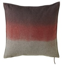 Washed Red Ombre Stripe Pillow.