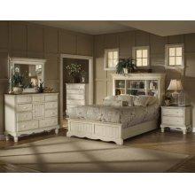 Wilshire 5pc Queen Bookcase Bedroom Suite