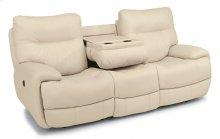 Evian Leather Power Reclining Sofa